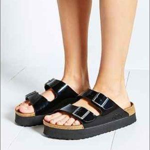birkenstock papillio black platform sandals 11